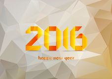 Happy new year 2016. Abstract Geometric Background for Design.  stock illustration