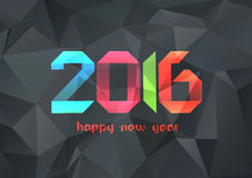 Happy new year 2016. Abstract Geometric Background for Design.  royalty free illustration