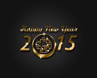 Happy New Year 2015. An abstract illustration on New Year Royalty Free Stock Photography