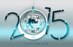 Happy New Year 2015. An abstract illustration on New Year Stock Photo