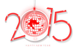 Happy New Year 2015. An abstract illustration on New Year Royalty Free Stock Photo