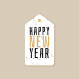 Happy new year. Abstract happy new year label on a brown background Stock Images