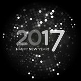 Happy New Year 2017 abstract light background. Happy New Year 2017 abstract black and white light background for your design Stock Image