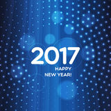 Happy New Year 2017 abstract light background. Happy New Year 2017 abstract blue light background for your design vector illustration