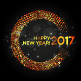 Happy New Year 2017 abstract light background Stock Photography