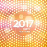 Happy New Year 2017 abstract light background Royalty Free Stock Image