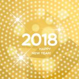 Happy New Year 2018 abstract light background Royalty Free Stock Images