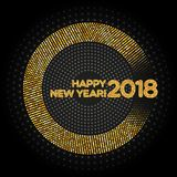 Happy New Year 2018 abstract light background Stock Image