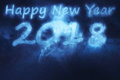 2018 happy new year. Abstract night sky background Stock Photos