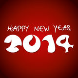 Happy new year 2014. Abstract Happy new year 2014 red background Vector Illustration