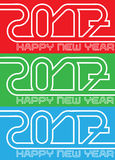 Happy new year 2017 abstract style. For web Stock Images