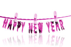Happy new year 2014. Abstract text with fur effects isolated on white background Stock Image