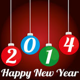 Happy New Year. Abstract happy new year text on special background vector illustration