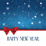 Happy new year. Abstract happy new year text on special blue background vector illustration