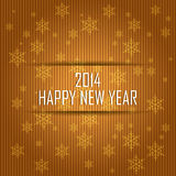 Happy new year. Abstract happy new year text on special gold background Stock Image
