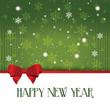 Happy new year. Abstract happy new year text on special green background royalty free illustration