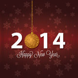 Happy new year. Abstract happy new year and 2014 text on special red background stock illustration
