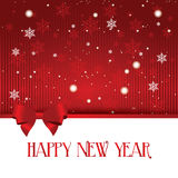 Happy new year. Abstract happy new year text on special red background Royalty Free Stock Photos