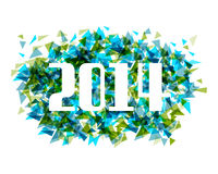 Happy New Year 2014 abstract triangle background Royalty Free Stock Image
