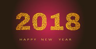 Happy new year 2018 abstract vector design vector illustration. Happy new year 2018 abstract vector design,for banners, posters, flyers. Creative design vector Royalty Free Stock Photography