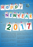 Happy New Year 2017. Abstract of Happy New Year 2017. Vector and Illustration, EPS 10 Stock Photography