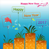 Happy New Year 2017. Abstract of Happy New Year 2017. Vector and Illustration, EPS 10 Stock Images
