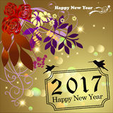 Happy New Year 2017. Abstract of Happy New Year 2017. Vector and Illustration, EPS 10 Royalty Free Stock Image
