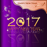 Happy New Year 2017. Abstract of Happy New Year 2017. Vector and Illustration, EPS 10 Royalty Free Stock Images