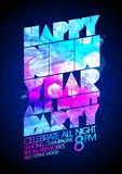Happy new year all night party vector poster Royalty Free Stock Image