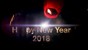 2018 Happy New Year stock video footage