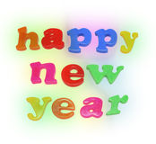 Happy New Year Alphabets Stock Photography