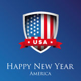 Happy New Year America Royalty Free Stock Image