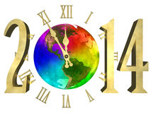 Happy new year 2014 - America Royalty Free Stock Photography