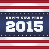 Happy New Year 2015. American style. Stock Photos