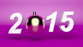 Happy new year 2015 animation stock video