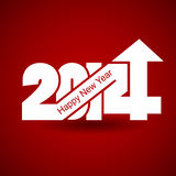 Happy New Year 2014 with arrow up Royalty Free Stock Photo