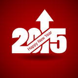 Happy New Year with arrow up Royalty Free Stock Images
