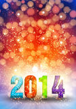 Happy New Year 2014. Art Happy New Year 2014 Royalty Free Stock Photo