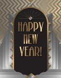Happy New Year Art Deco Invitation. Flyer Poster Flyer Card Greeting 2019 2020 2021 2022 2023 2024 royalty free illustration