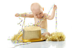 Happy New Year Baby Royalty Free Stock Photos