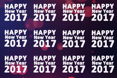 Happy new year 2017 backdrop. Happy new year 2017 3d text with dark blue background Royalty Free Stock Photography