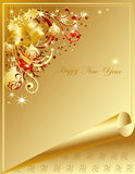 Happy New Year background. Gold Happy New Year background Stock Photos