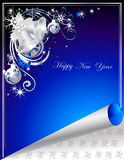 Happy New Year background. Blue Happy New Year background Stock Photos
