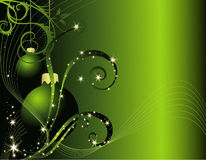 Happy New Year background. Gold and green Happy New Year background royalty free illustration