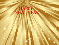 Happy New Year Background. Vector gold Happy New Year background Stock Images