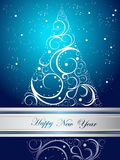 Happy New Year background. Silver and blue  Happy New Year background Royalty Free Stock Photos
