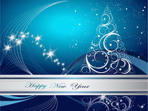 Happy New Year background. Silver and blue  Happy New Year background Royalty Free Stock Image