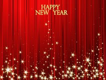 Happy New Year background. Red and gold  Happy New Year background Stock Images