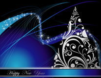 Happy New Year background. Blue and silver Happy New Year background Royalty Free Stock Photos