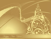 Happy New Year background. Gold Happy New Year background Royalty Free Stock Image
